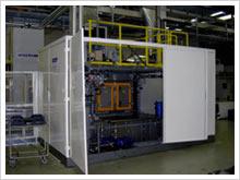 Kammer-Reinigungsanlage im Rundtaktverfahren mit Roboterbeladung